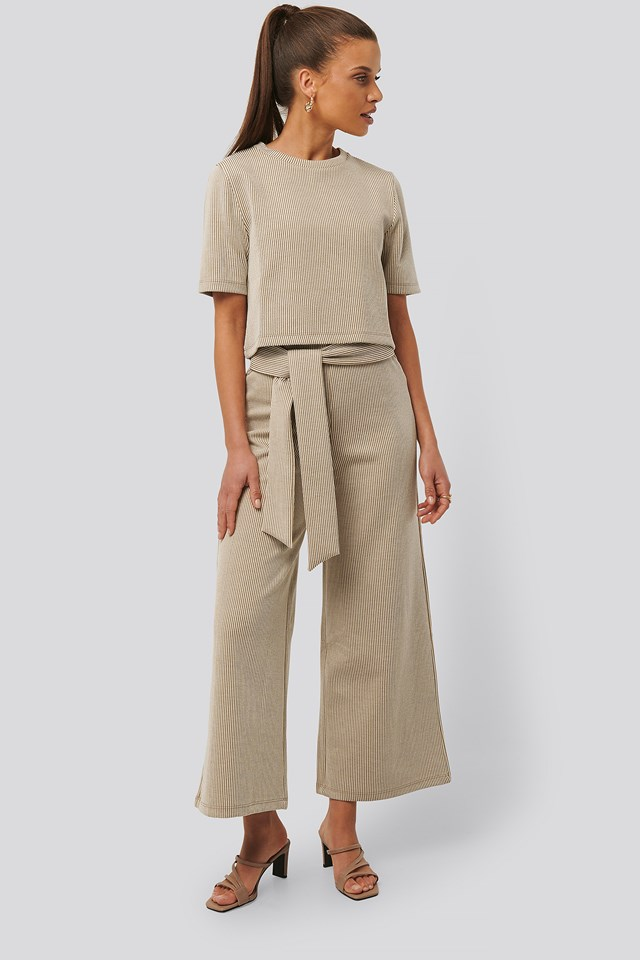 Striped Ribbed Pants NA-KD