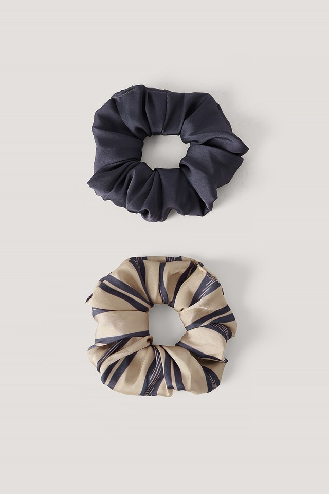 Striped Scrunchie Set Purple