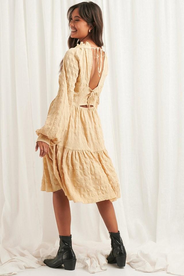 Structured Open Back Dress NA-KD Boho