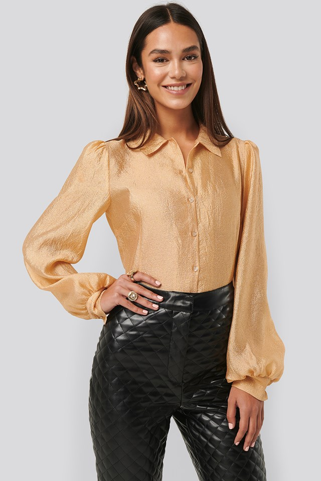 Structured Organza Balloon Sleeve Blouse NA-KD Trend
