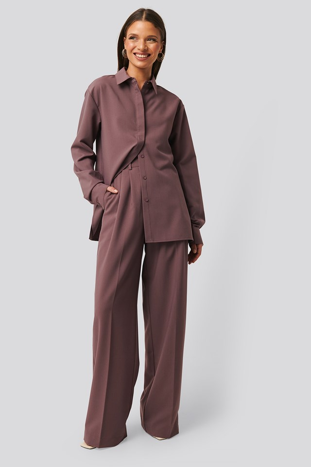 Structured Pants Dusty Lilac