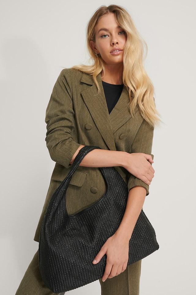 Structured Shoulder Bag Black