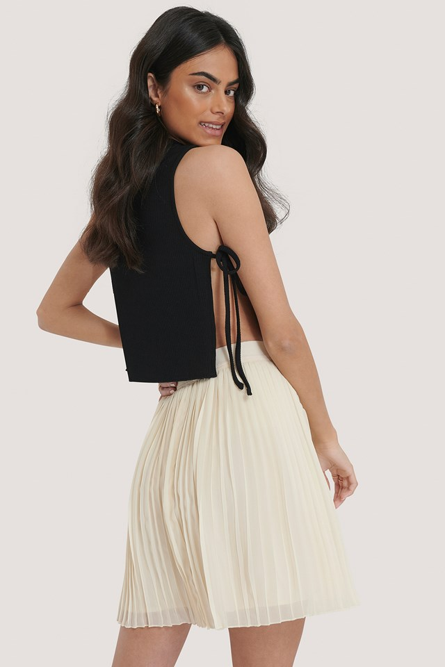 Black Knotted Tank Top