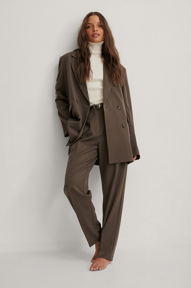 Suit Pants Brown