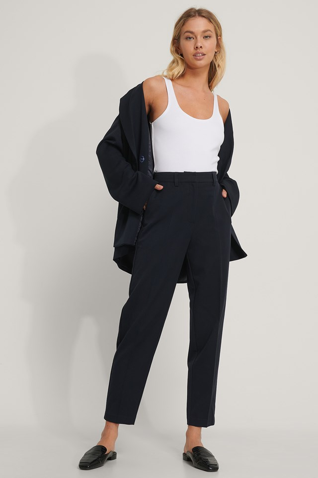 Suit Pants Dark Blue