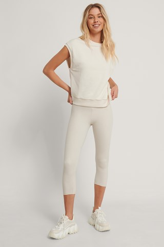 Offwhite Organic Sweatshirt Vest