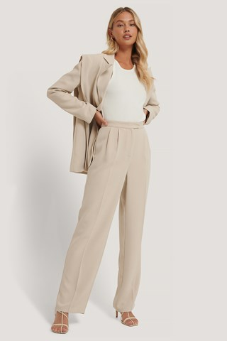 Off White Tailored Wide Leg Trousers