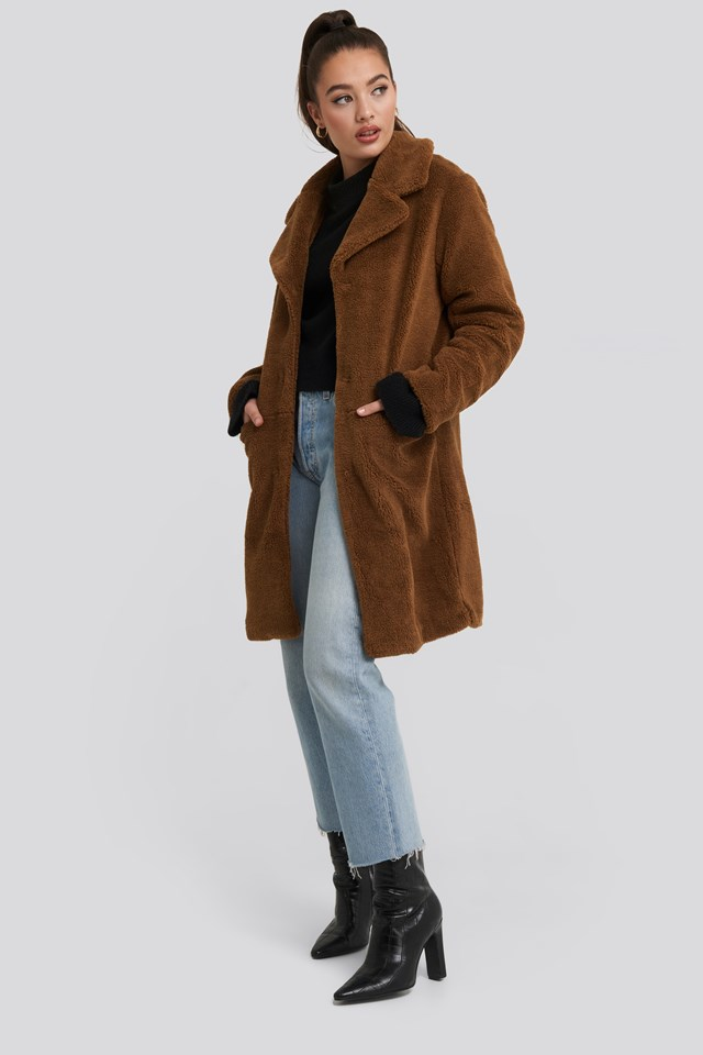 Teddy Midi Coat NA-KD
