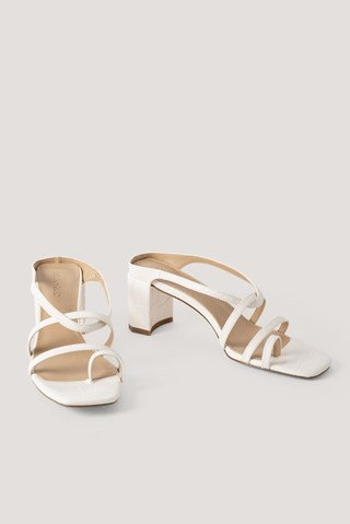 Offwhite Toe Ring Strappy Block Heels