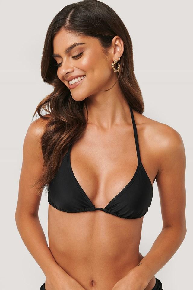 Triangle Bikini Top Black
