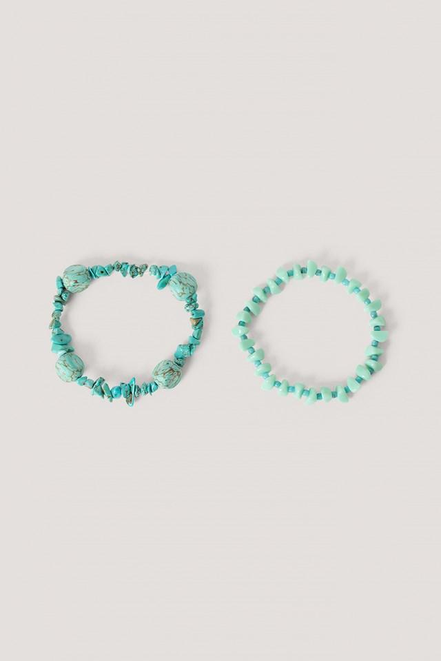 Turquoise Double Bracelet Set Turquoise
