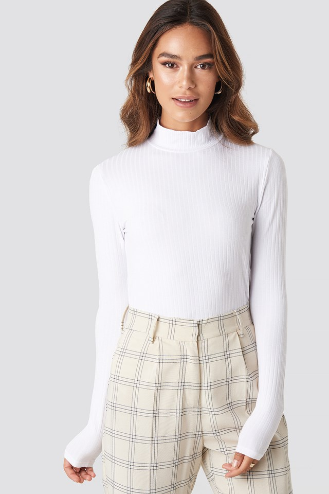 Turtle Neck Long Sleeve Top NA-KD