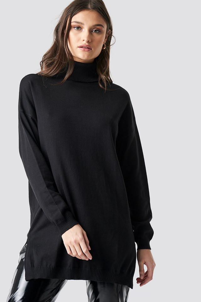 Turtle Neck Long Sweater NA-KD