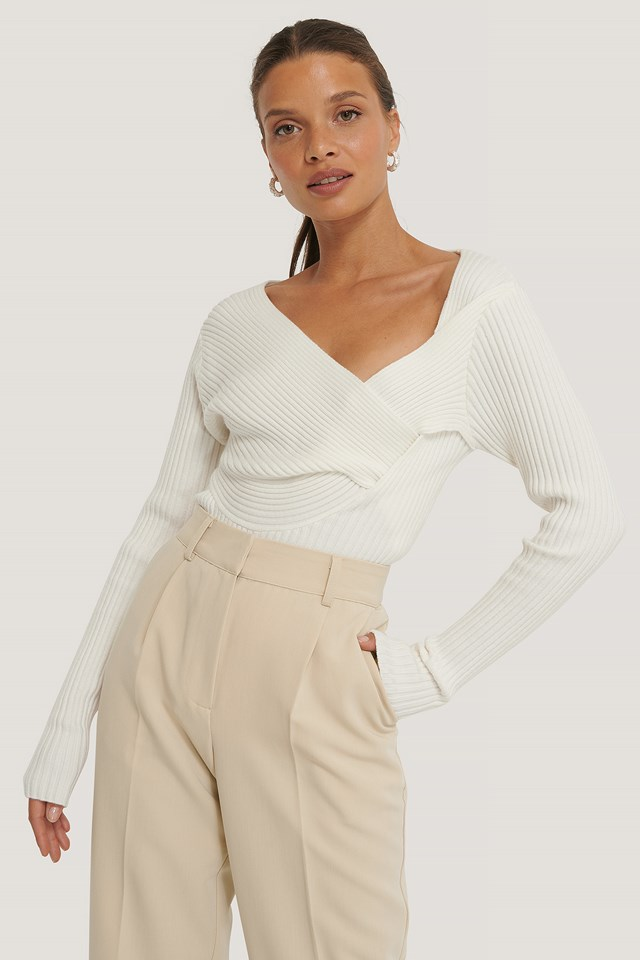 Twisted Front Top Off White