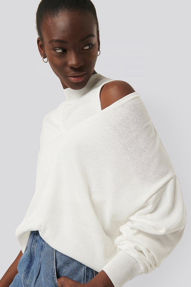 Two Piece Layered Sweater Ecru
