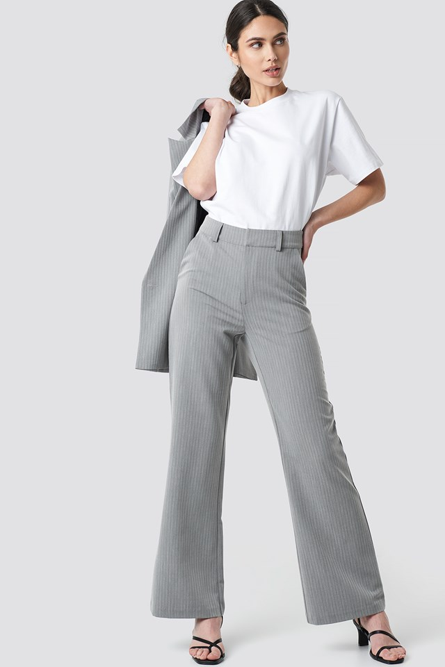 Two Tone Striped Suit Pants NA-KD Classic