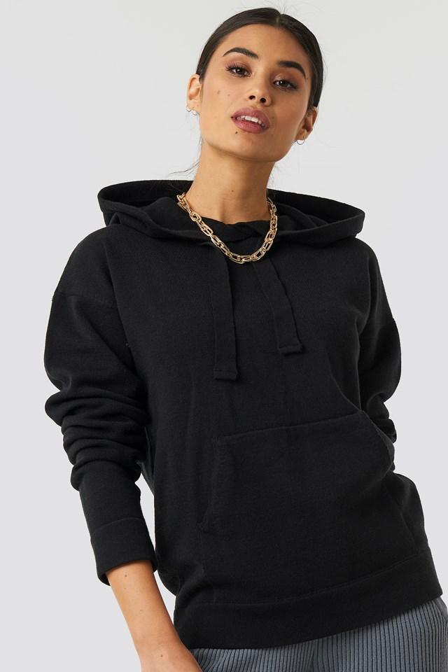 Ty Knitted Hoodie Black