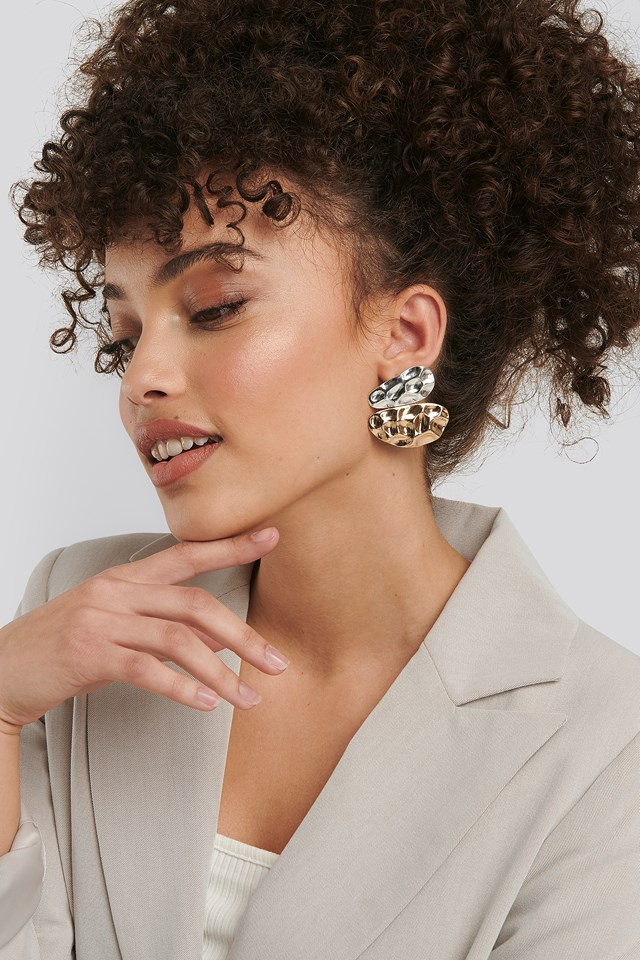 Uneven Flat Earrings NA-KD Accessories
