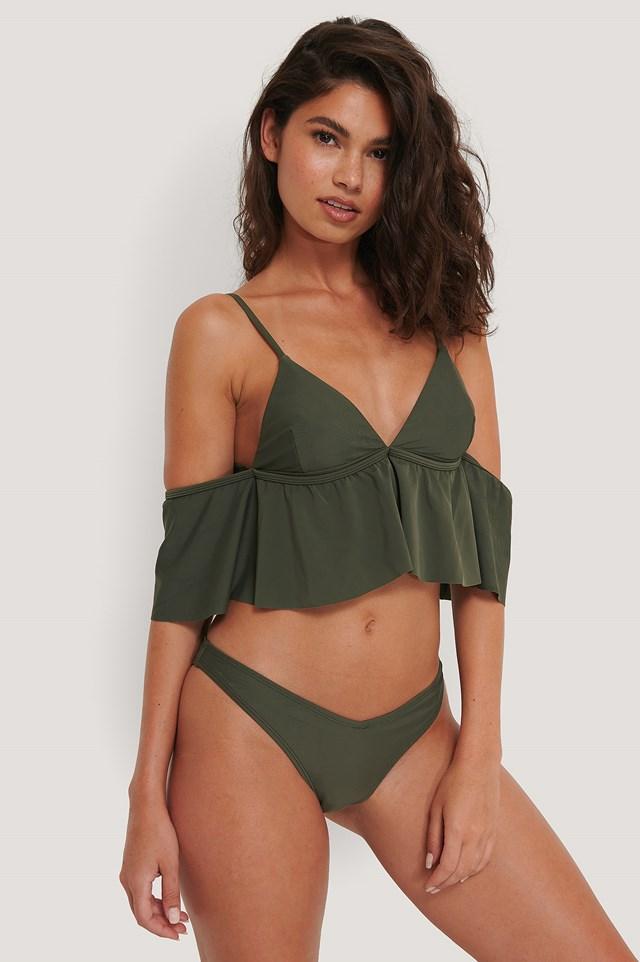 V-Shape Bikini Bottom Deep Khaki