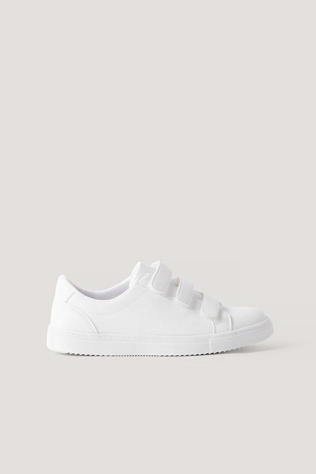 Velcro Basic Trainers White