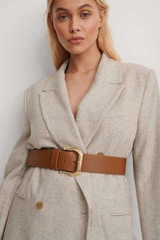Brown Vintage Look Belt