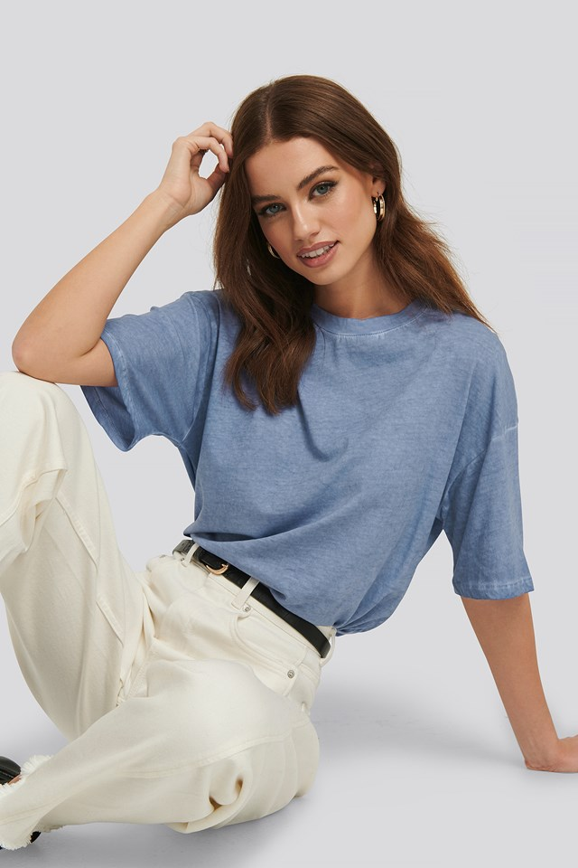 Washed Out Tee Stone Blue