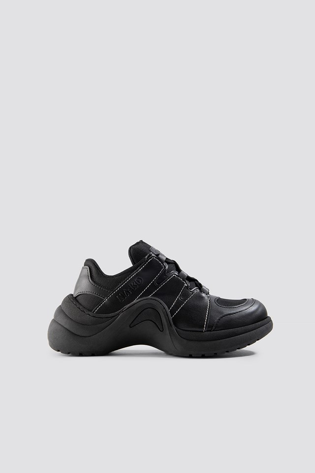 Wave Sole Trainers Black