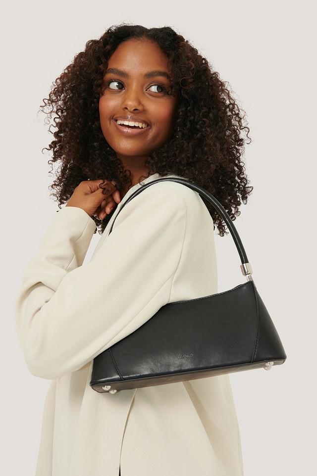 Wide Bottom Baguette Bag Black