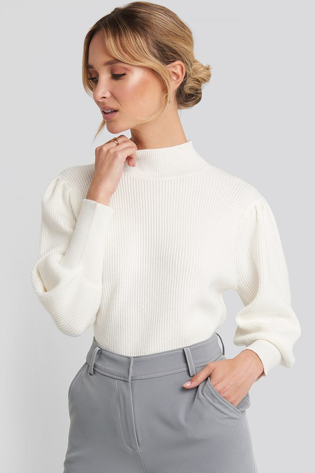 Wide Cuff Balloon Sleeve Knitted Sweater NA-KD