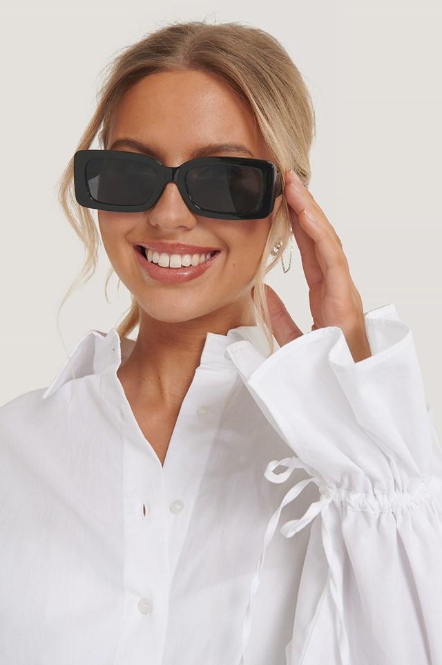 Wide Edge Sunglasses Black