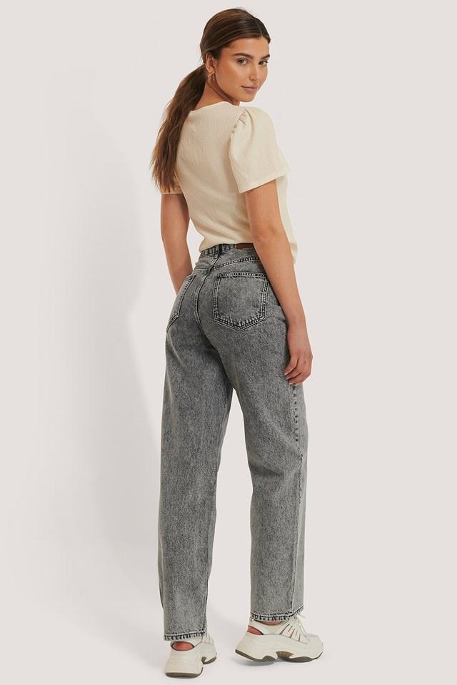 Wide Leg Denim Grey