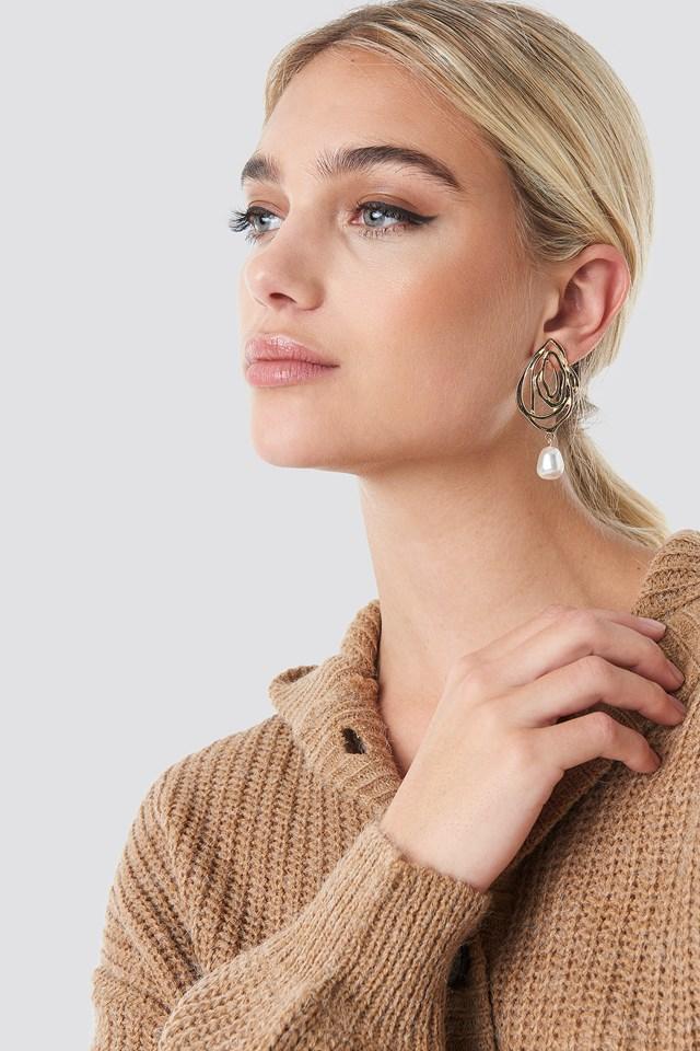 Wire Pearl Drop Earrings NA-KD Accessories