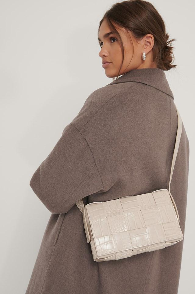 Woven Shoulder Bag Nude