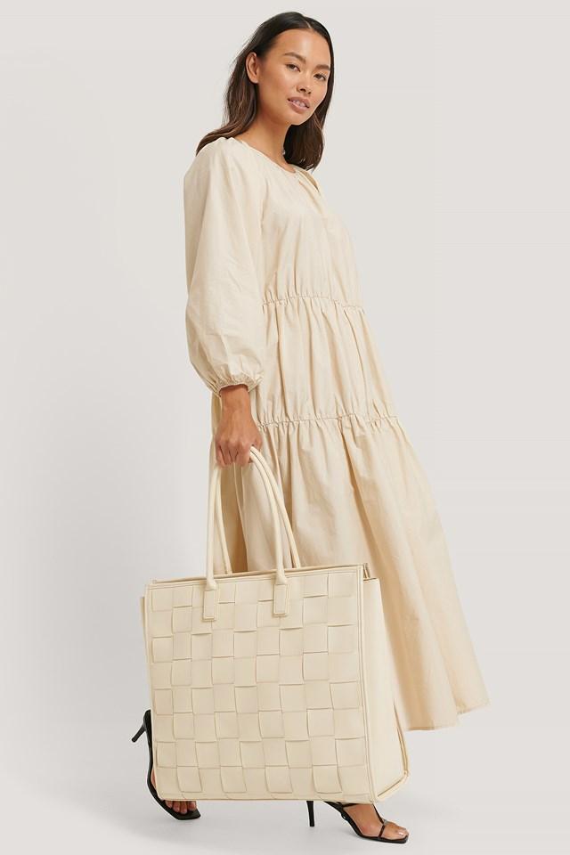 Woven Slim Handle Bag Natural