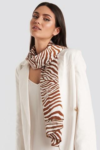 Terracotta Zebra Satin Scarf