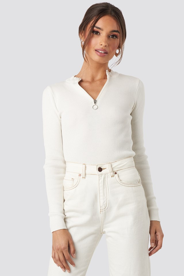 Zip Knitted Sweater NA-KD