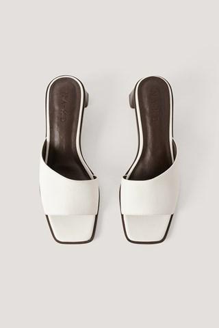 Offwhite Zylinder Heel Soft Mules