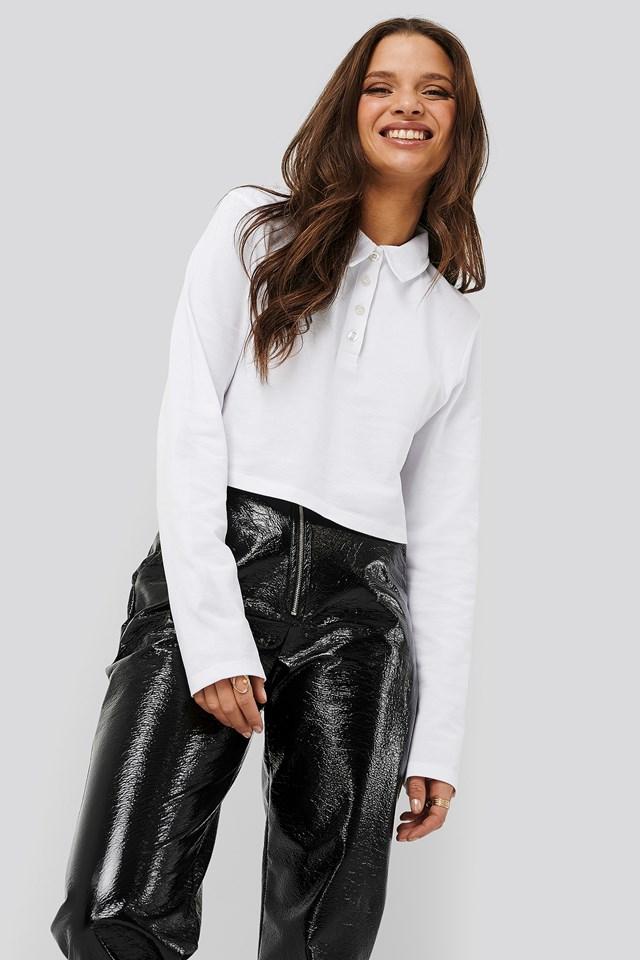 Cropped Piké Shirt White