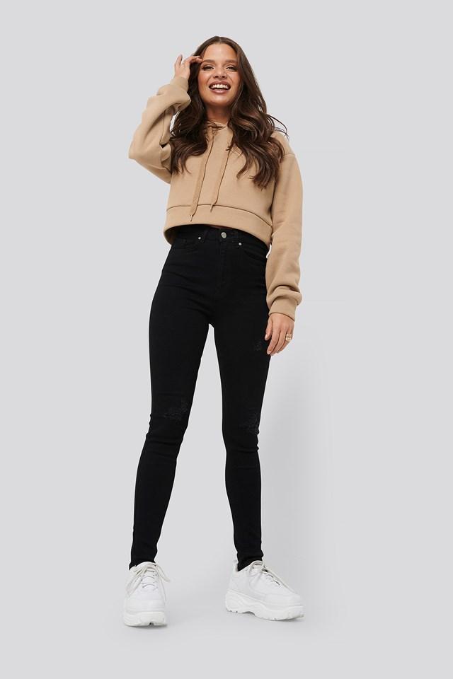 Slim Ripped Jeans Black