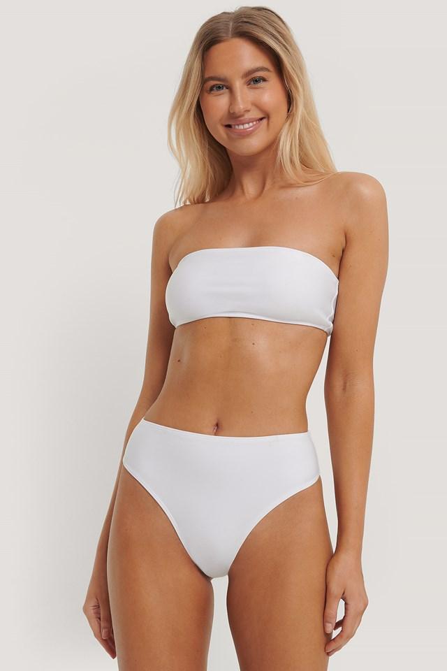 High Waist Bikini Panty White