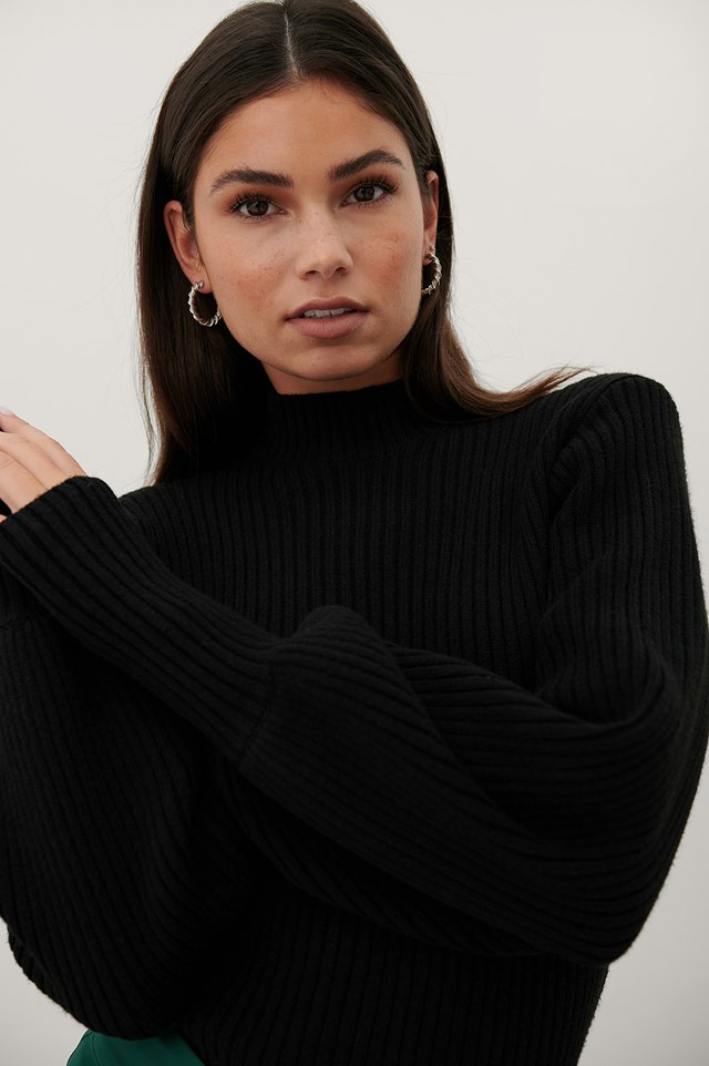 Recycled Knitted Sweater Black