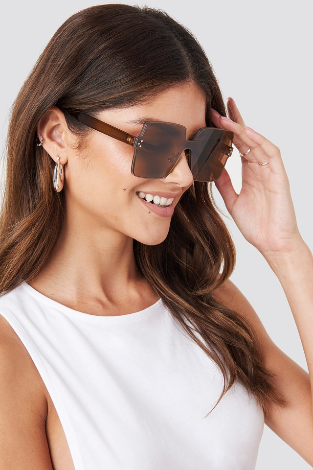 Squared Sunglasses Brown