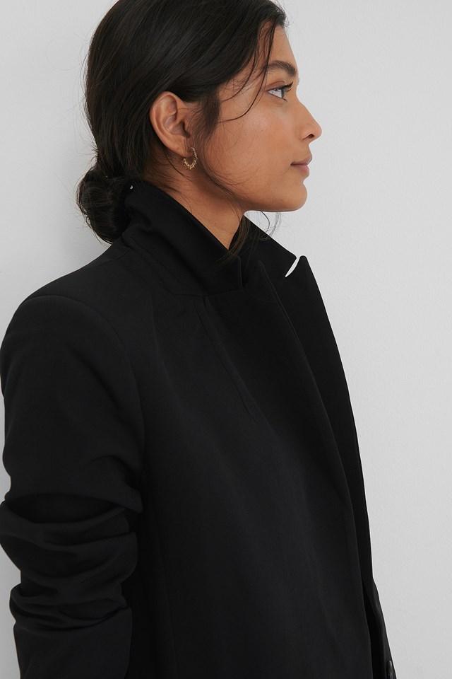 Pocket Detail Blazer Black
