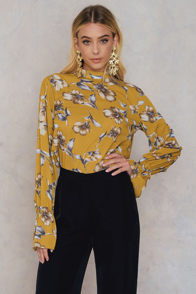 High Neck Top Yellow