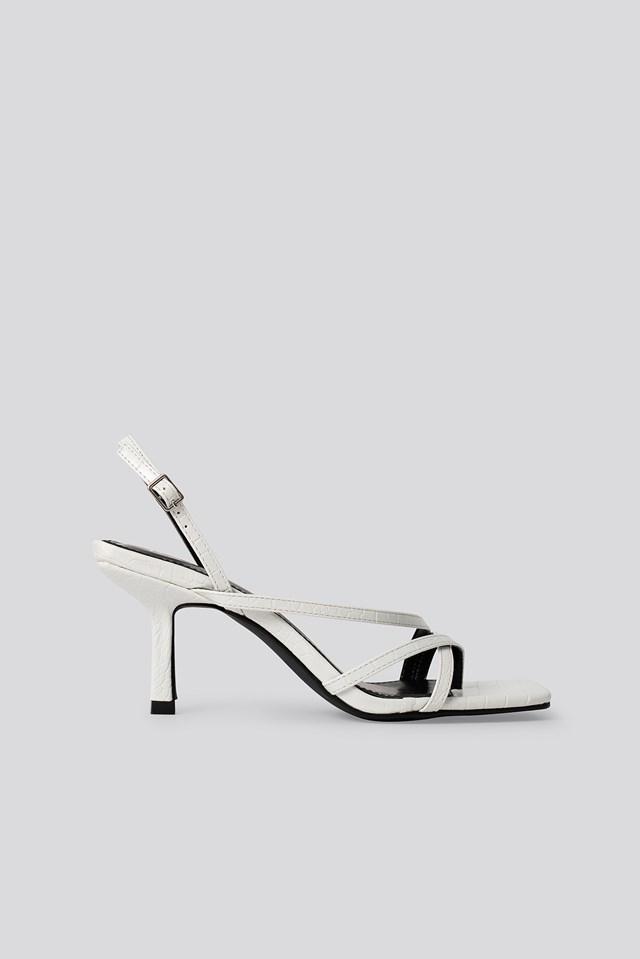 Anina Sandal White Croc PU
