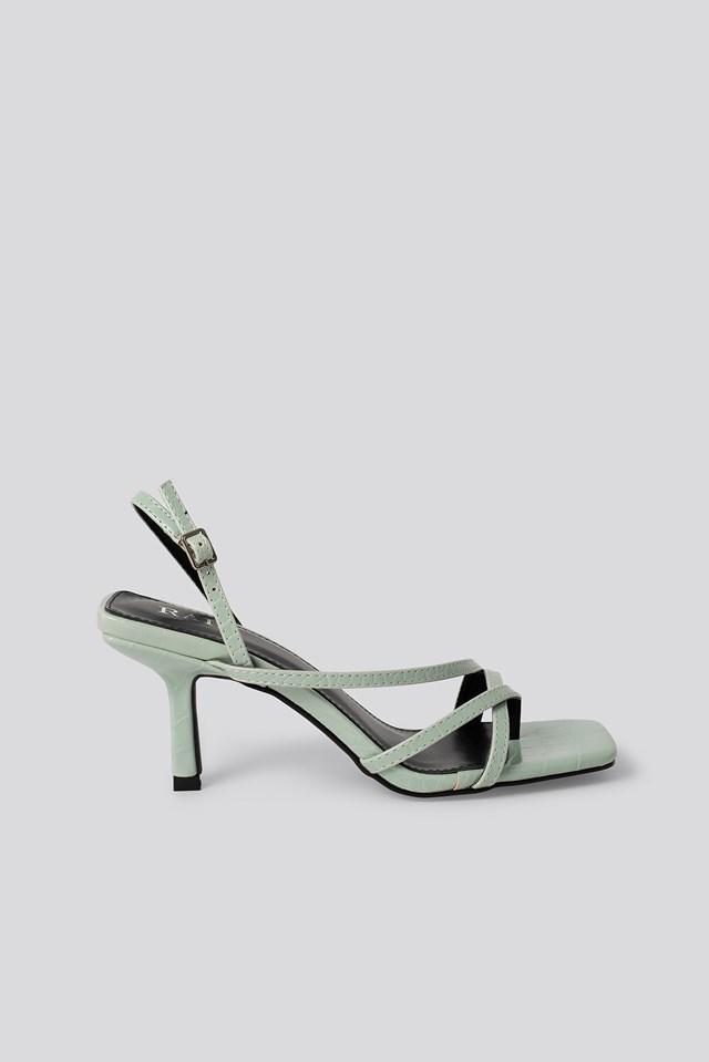 Anina Sandal Mint Croc