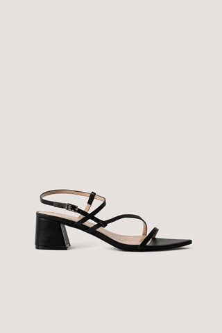 Black PU Attie Sandal