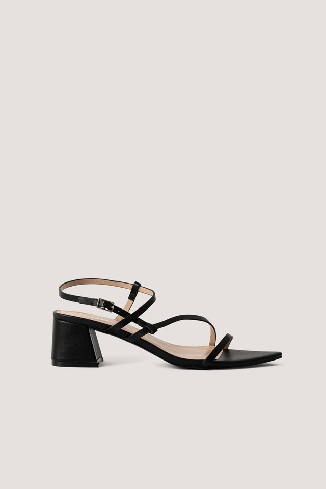 Attie Sandal Black PU