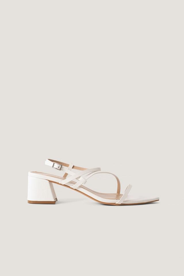 Attie Sandal White PU