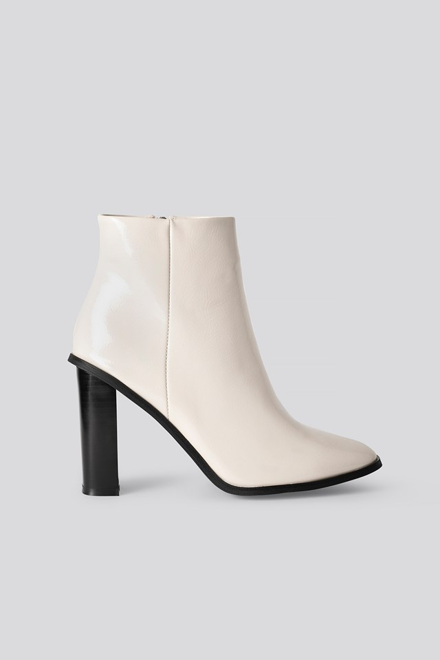 Dylan Ankle Boots White Patent